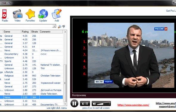 AnyTV — бесплатная программа